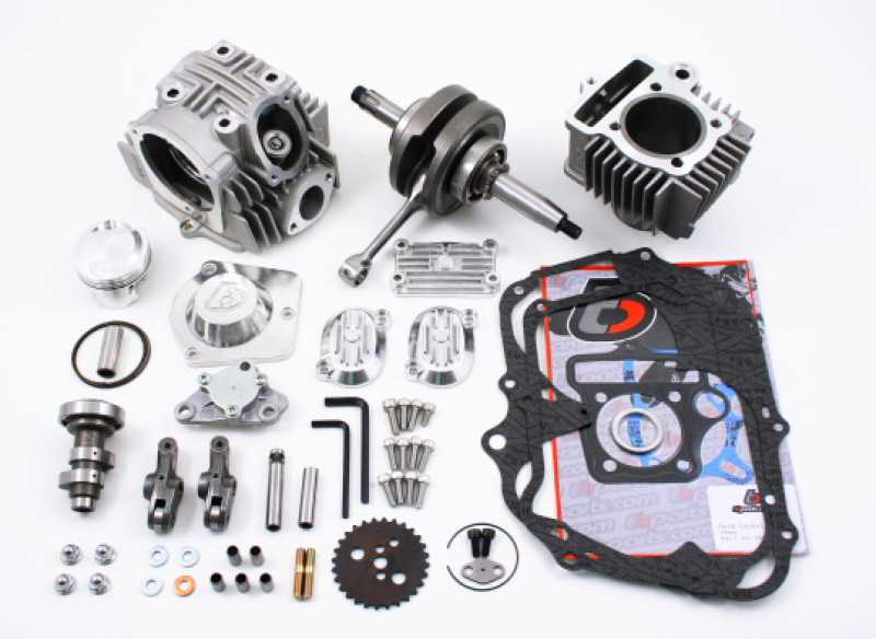 TBParts - 54mm Big Bore Kit w/ Race Head V2 kit and Stroker Crank for 69-79  Z50